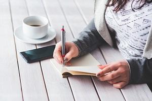 scrivere su un diario le preoccupazioni