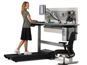 scrivania rialzata con tapis roulant